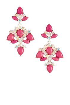 Teardrop Mosaic Resin & Crystal Drop Earrings by Olivia Welles on @HauteLook