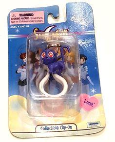 sailor moon clip mars figure Keychain Collectible clip Purple Cat