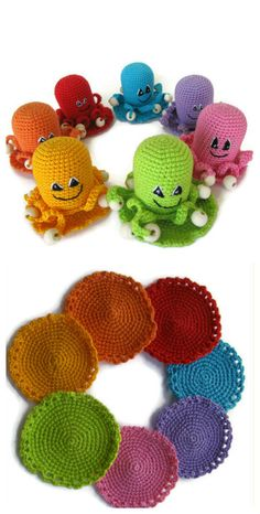 Color Sorting Game Octopus rattles toys circle by KrugerShop