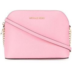 Michael Michael Kors large 'Cindy' crossbody bag ($211) ❤ liked on Polyvore featuring bags, handbags, shoulder bags, purses, backpack, bags & wallets, pink, crossbody shoulder bags, purse backpack and day pack backpack