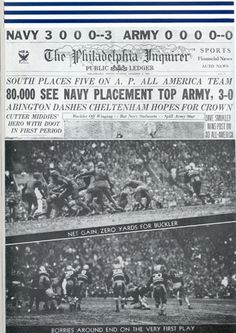 Newspaper from the 1934 Army-Navy Football Game. Go Navy Beat Army, Army & Navy, Army Navy Football, Navy Midshipmen, Naval Academy, Sport Girl, Maryland, Newspaper, Victorious