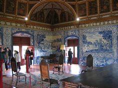 Sintra, Palacio Real interior, Portuguese Tiles, Azulejos, Portugal
