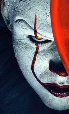 """"""" You can be Pennywise the Dancing Clown with this overhead latex mask. Complete with an attached wig, this adult size mask fits mosts sizes and will complete your Pennywise costume! Ages 17 and up. Joker Iphone Wallpaper, Joker Hd Wallpaper, Hacker Wallpaper, Joker Wallpapers, Marvel Wallpaper, Wallpaper Wallpapers, Penny Wise Clown, Photos Joker, Joker Images"""