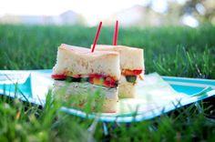 Brie and nectarine turkey pressed sandwiches