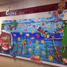Dive Into Learning Ocean Bulletin Board Idea - MyClassroomIdeas.com