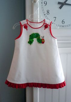 Mindy Dress -A-Line Dress Made w/ Very Hungry Caterpillar Fabric | RennyClothing - Clothing on ArtFire