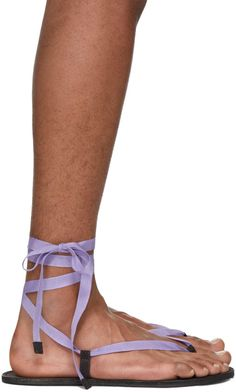 Haider Ackermann - Purple Bismuth Anthracite Sandals