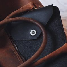 """Designed with easy travel and portability in mind, our Macbook sleeve cuts a striking look that emphasizes the lightness of your 13"""" Macbook. - Photo by @scottuzoho - Available on mujjo.com or through resellers worldwide. #mujjo"""