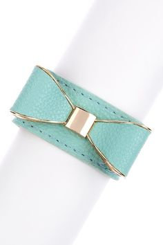 Bow Leather Bracelet by Olivia Welles on @HauteLook. Special $24.00!