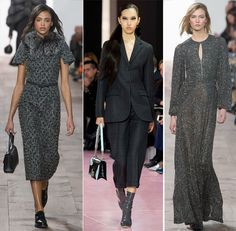 In grey and sexy: outfits by Michael Kors and Christian Dior FW 2015