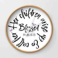 Proverbs Mom Clocks: Rethink the traditional timepiece as functional wall decor. Christian Gifts, Christian Quotes, Line Shopping, Proverbs 31, Christian Inspiration, Wall Clocks, Call Her, Worship, Bible Verses