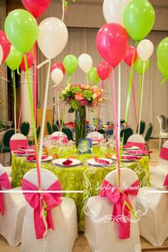 Chair covers and balloons