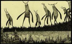 John Kenn Mortensen artwork This makes me think of Princess Mononoke