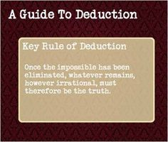 The key rule of deduction