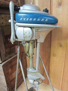 For sale, 1946 Evinrude HP Zephyr, model outboard motor, Come by Ahlstrand Marine to see this four cylinder antique and many other antique outboards on display in our Outboard Museum. Fast Boats, Speed Boats, Power Boats, Outboard Motors For Sale, Outboard Boat Motors, Old Boats, Small Boats, Boat Engine, Vintage Boats
