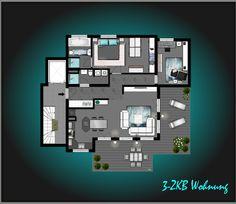 Grundriss 3-ZKB Wohnung