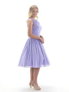 Tea length chiffon dress with ruched drop waist bodice, from Linzi Jay. Lilac Prom Dresses, Best Prom Dresses, Lilac Color, Drop Waist, Tea Length, Chiffon Dress, Bodice, Ball Gowns, Evening Dresses