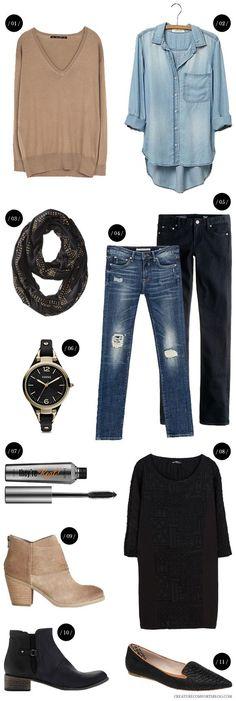 Fall basics | Capsule Wardrobe