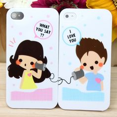 Couple+Protective+Plastic+Case+Set+for+iPhone+4/4S+(Style+M)+,Best+personalized+gifts+for+him+or+her+on+Yoyoon.com
