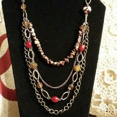 Fun multi layer necklace Multi layer chain necklace Jewelry Necklaces