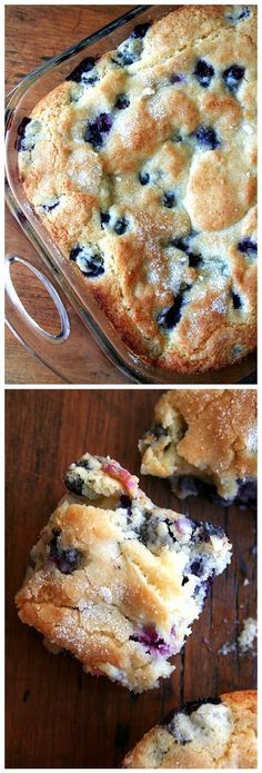 Easy and Quick Recipes: Buttermilk-Blueberry Breakfast Cake I used oil in plAce of butter, wheat flour (1 1/4 wheat+1/4 c oat bran, 1/2 white), & reduced the sugar to 3/4 c +1T on top. I also used rice milk b/c that's what I had.
