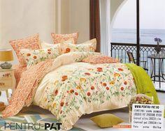 Lenjerie de pat bumbac Casa New Fashion cu garoafe si maci Maci, New Fashion, Comforters, Blanket, Bed, Home, Creature Comforts, Blankets, Stream Bed