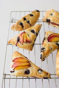blueberry nectarine scones