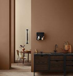 Inspirasjon: Dette er vårens vakreste farger - Byggmakker - Lilly is Love Pink Bedroom Walls, Room Decor Bedroom, Living Room Decor, Brown Interior, Brown Walls, Wonderwall, Interior Design Magazine, Elle Decor, Room Set