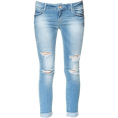 Zara Skinny Fit Jeans ($60) ❤ liked on Polyvore featuring jeans, pants, bottoms, calças, light blue, skinny leg jeans, skinny jeans, blue skinny jeans, zara skinny jeans and light blue jeans