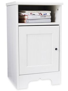 The Aspelund nightstand from IKEA ($39.99) may look simple, but it boasts tons of room to store your books and other bedside necessities #ikea #nightstand