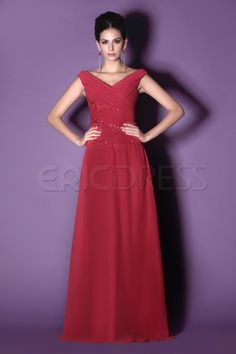 Attractive A-Line V-Neck Floor-Length Appliques Taline's Mother of the Bride Dress - royal blue or mint