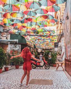 11 Must-Visit Photo Spots in Bucharest, Romania City Breaks Europe, European City Breaks, Brasov Romania, Bucharest Romania, Cool Places To Visit, Places To Travel, Travel Destinations, Umbrella Street, Underground Bar