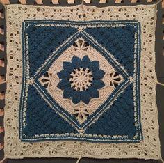 Crochet Teal Charlotte Square