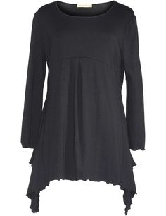 Isolde Roth Long Top with Wavy Hems