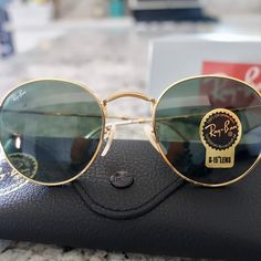 6648bc371866 Ray-Ban Round Metal Gold Brand New Authentic Ray-Ban Round Metal Gold  Sunglasses RB3447 - 001/62 ray ban Accessories Sunglasses