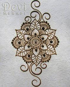 henna mandala flower shakti flower mandala | zentangle