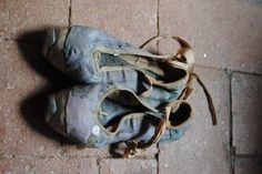 Very old and very beautiful ballet shoes. The beauty and the pain ....