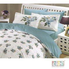 Lenjerie de pat 2 persoane Paris Spring Turquoise