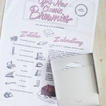 Cynthia Barcomi Kitchenware :: Cynthia's Brownie Set mit Handtuch mit Rezept und Backform