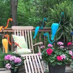 Outdoor Projects, Garden Projects, Outdoor Decor, Backyard Patio, Backyard Landscaping, Yard Ornaments, Flamingo Decor, Garden Deco, Yard Art