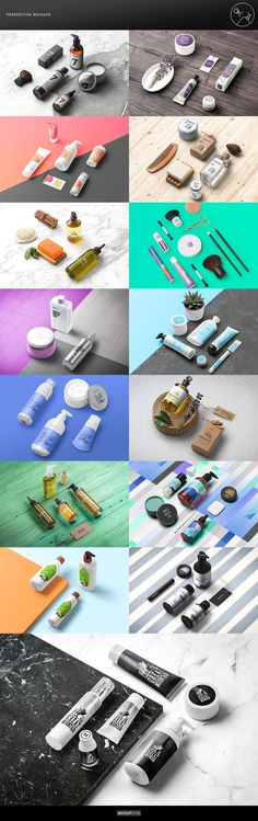 Cosmetic Packaging Branding MockUp by Mockup Zone on @creativemarket Mock-Up template design, ideal to present your project, branding or business.