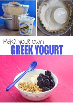 Learn how to make Greek yogurt at home - with just one ingredient and no yogurt starter or fancy machines!