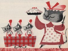 from the always-awesome Animalarium's Cake Please! art by Mary Blair (of course)