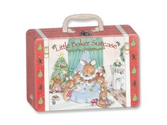 Little Baker Christmas Suitcase by Child to Cherish. A wonderful Gift Your Little Baker! Children love to bake and this adorable suitcase is filled with cooking supplies to get started right now! Includes: High Quality Child to Cherish Apron, Solid Wood Spoon, Wooden Rolling Pin, 3 Cookie Cutters and 5 Recipes! The Food Grade tin suitcase makes it great for storing treats too!. Price: $18.00
