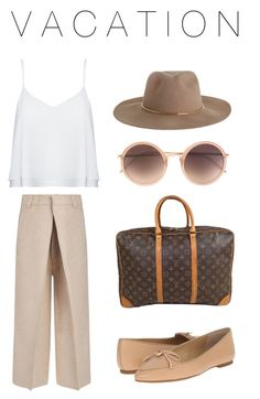 """VACATION"" by nafila-winardi on Polyvore featuring Alice + Olivia, Joseph, Linda Farrow, Zimmermann, MICHAEL Michael Kors and Louis Vuitton"