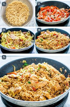 Chicken Ramen Stir Fry is a simple but tasty dish that is perfect for any night of the week. Packed full of crunchy veggies cooked down in a savory spicy sauce, served over ramen noodles, this dish is Ramen Noodle Recipes, Ramen Noodles, Chicken Noodles, Chicken Meals, Spicy Sauce, Hoisin Sauce, Crunchy Asian Salad, Easy Beef And Broccoli, Asian Recipes