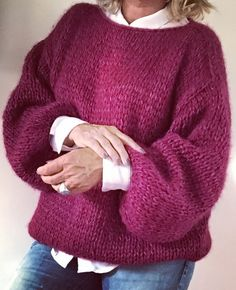 Hand Knitted Sweaters, Mohair Sweater, Knitted Hats, Korean Girl Fashion, Fingerless Gloves Knitted, Athleisure Outfits, Made Clothing, Cardigan Pattern, Pulls