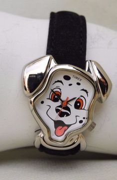 DISNEY'S 101 DALMATIANS DALMATIAN FACE 1996 TIMEX WATCH. WORKS! NEW BATTERY NIB! #DISNEY101DALMATIANSWATCHESBYTIMEX
