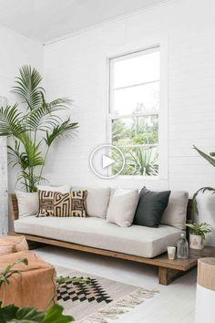 27 Sweet and Cozy Living Room Interior Ideas – – Sofa Design 2020 Diy Furniture Sofa, Diy Living Room Furniture, Cozy Living Rooms, Living Room Interior, Living Room Decor, Furniture Design, Furniture Ideas, Furniture Stores, Living Room Daybed