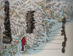 In Kalaallit Nunaat (Greenland), the Inuit people are known for carving portable maps out of driftwood to be used while navigating coastal waters.